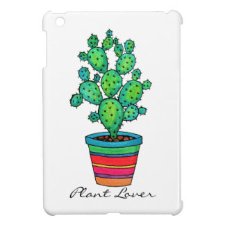 Gorgeous Watercolor Cactus In Beautiful Pot Cover For The iPad Mini