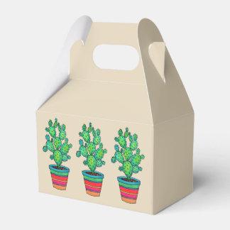 Gorgeous Watercolor Cactus In Beautiful Pot Favor Box