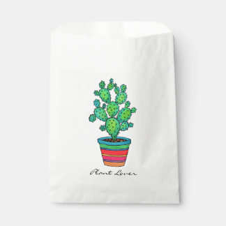 Gorgeous Watercolor Cactus In Beautiful Pot Favour Bag