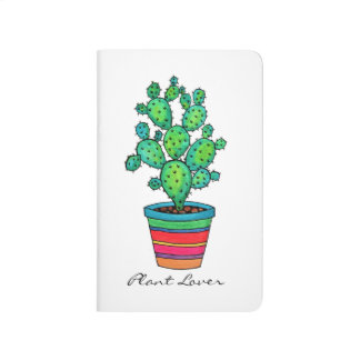 Gorgeous Watercolor Cactus In Beautiful Pot Journal
