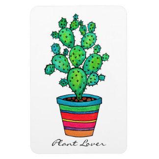 Gorgeous Watercolor Cactus In Beautiful Pot Magnet