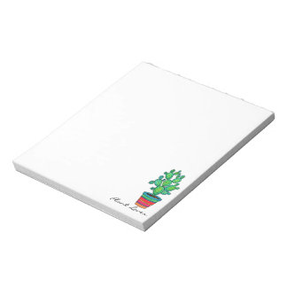 Gorgeous Watercolor Cactus In Beautiful Pot Notepad