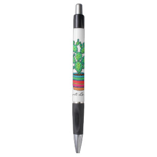 Gorgeous Watercolor Cactus In Beautiful Pot Pen