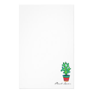 Gorgeous Watercolor Cactus In Beautiful Pot Stationery