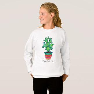 Gorgeous Watercolor Cactus In Beautiful Pot Sweatshirt