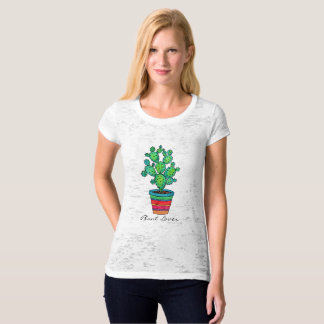 Gorgeous Watercolor Cactus In Beautiful Pot T-Shirt