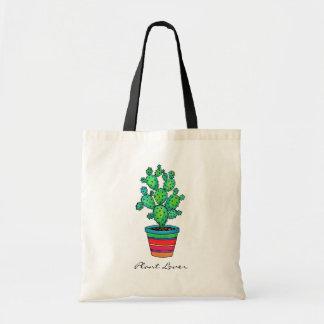 Gorgeous Watercolor Cactus In Beautiful Pot Tote Bag