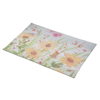 Gorgeous Watercolor Floral Placemat