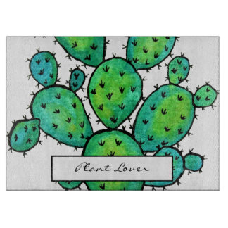 Gorgeous Watercolor Prickly Cactus Boards