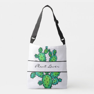 Gorgeous Watercolor Prickly Cactus Crossbody Bag