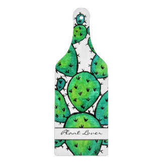 Gorgeous Watercolor Prickly Cactus Cutting Board