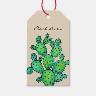 Gorgeous Watercolor Prickly Cactus Gift Tags