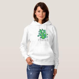 Gorgeous Watercolor Prickly Cactus Hoodie
