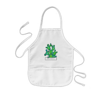 Gorgeous Watercolor Prickly Cactus Kids Apron