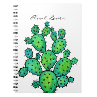 Gorgeous Watercolor Prickly Cactus Notebook