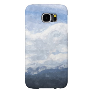 Gorgeous watercolor snowy landscape phone case