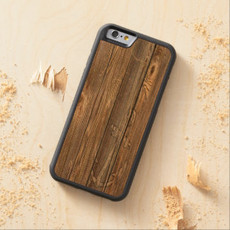 GORGEOUS WEATHERED Old WOOD WITH RUSTIC ANCHOR Carved Cherry iPhone 6 Bumper Case