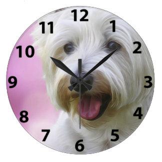 Gorgeous Westie Face Large Clock