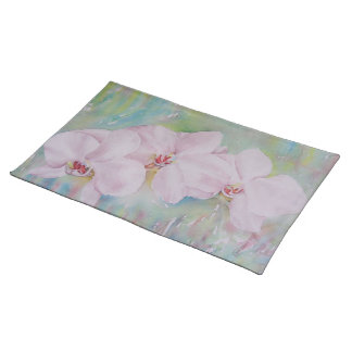 GORGEOUS WHITE ORCHIDS FLORAL PLACEMAT
