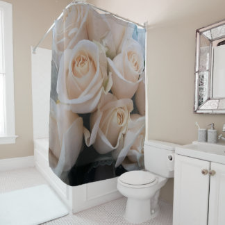Gorgeous White Roses Picture Shower Curtain