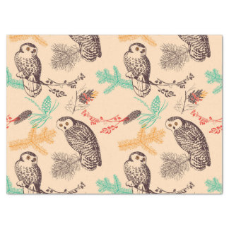 Gorgeous Winter Owls Tissue Paper