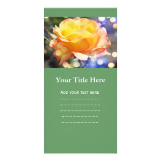 Gorgeous yellow rose flower.  Floral photography Picture Card