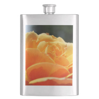 Gorgeous yellow rose flower. Love, friendship Flask