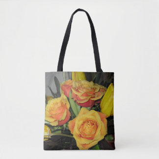 Gorgeous yellow rose tote  bag