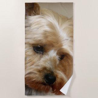 Gorgeous Yorkshire Terrier Beach Towel