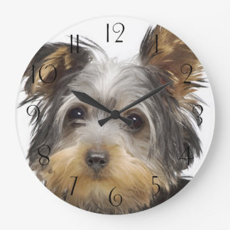 Gorgeous Yorkshire Terrier Large Clock