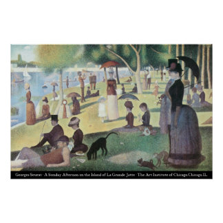 Gorges Seurat - Sunday Afternoon Print