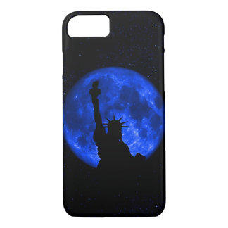 Gorgeus Statue Of Liberty Blue Moon iPhone 7 Case