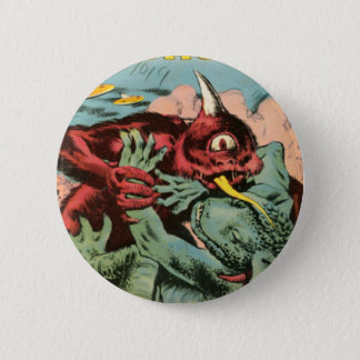 Gorgo and Cyclops Monster 2 Inch Round Button