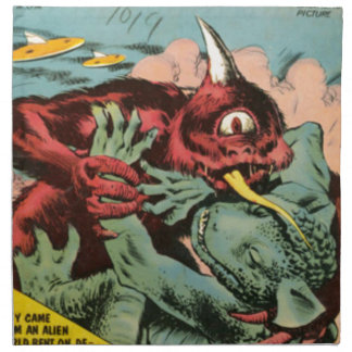 Gorgo and Cyclops Monster Cloth Napkins
