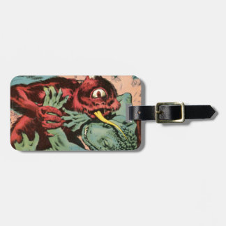 Gorgo and Cyclops Monster Luggage Tag