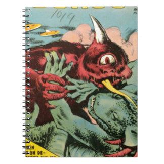Gorgo and Cyclops Monster Spiral Notebook