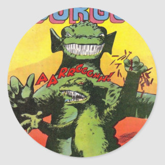 Gorgo the Creature from Beyond Classic Round Sticker