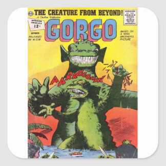 Gorgo the Creature from Beyond Square Sticker