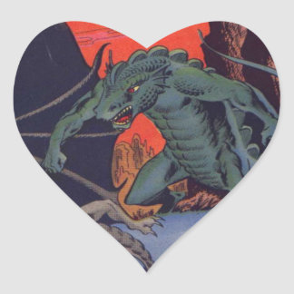 Gorgo vs. Pterodactyl Heart Sticker
