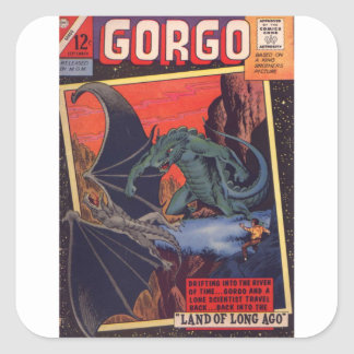 Gorgo vs. Pterodactyl Square Sticker