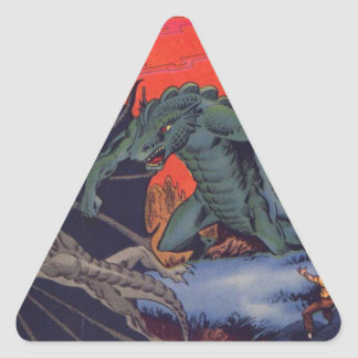 Gorgo vs. Pterodactyl Triangle Sticker