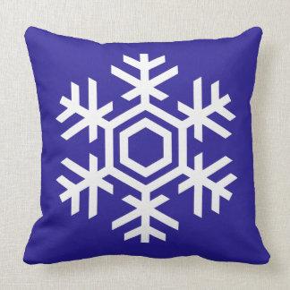 Gorgoeus Winter Blue White Snowflake Christmas Throw Pillow