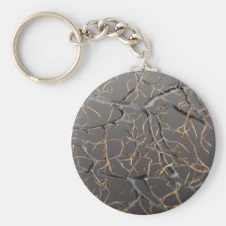 Gorgonian coral basic round button keychain