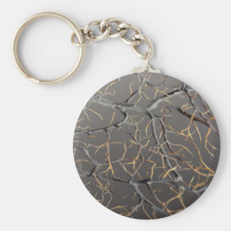 Gorgonian coral keychain
