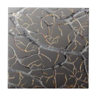 Gorgonian coral tile