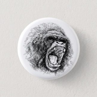 Gorilla 1 Inch Round Button