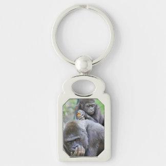 Gorilla and Baby Keychain