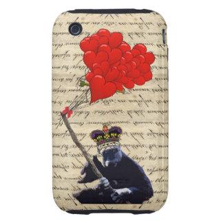 Gorilla and heart balloons iPhone 3 tough cover
