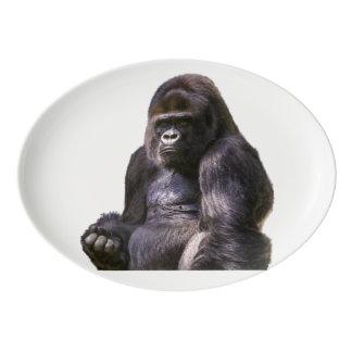 Gorilla Ape Monkey Porcelain Serving Platter
