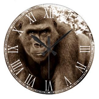 Gorilla Ape Primate Wildlife Animal Photo Wall Clocks